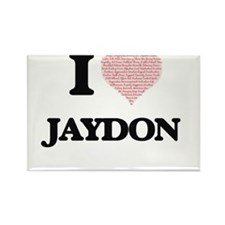 I Love Jaydon (Heart Made from Love words) Magnets