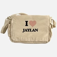 I Love Jaylan (Heart Made from Love Messenger Bag
