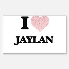 I Love Jaylan (Heart Made from Love words) Decal