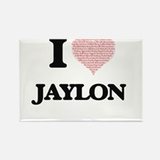 I Love Jaylon (Heart Made from Love words) Magnets