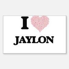 I Love Jaylon (Heart Made from Love words) Decal