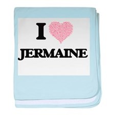 I Love Jermaine (Heart Made from Love baby blanket