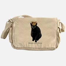 Black Cats Rule Messenger Bag