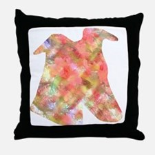 GREYHOUND FLOWERS THROW PILLOW