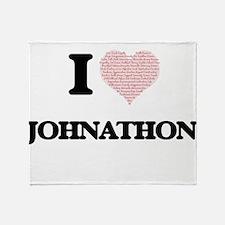 I Love Johnathon (Heart Made from Lo Throw Blanket
