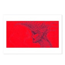 armoured lady Postcards (Package of 8)