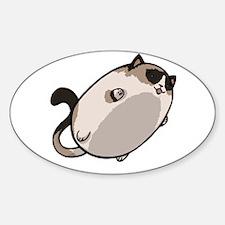 Flying Cat - Snowshoe Sticker (Oval)