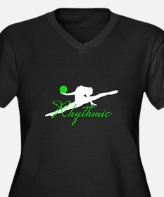 Green Rhythmic Gymnast Plus Size T-Shirt