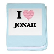 I Love Jonah (Heart Made from Love wo baby blanket