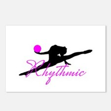 Pink Rhythmic Gymnast Postcards (Package of 8)