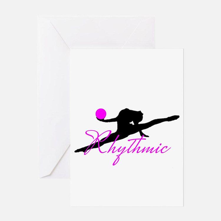 Pink Rhythmic Gymnast Greeting Cards