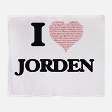 I Love Jorden (Heart Made from Love Throw Blanket