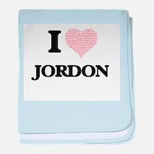 I Love Jordon (Heart Made from Love w baby blanket