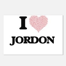 I Love Jordon (Heart Made Postcards (Package of 8)