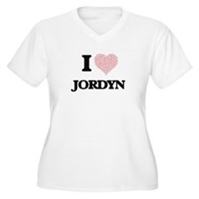 I Love Jordyn (Heart Made from L Plus Size T-Shirt