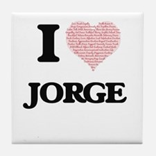 I Love Jorge (Heart Made from Love wo Tile Coaster