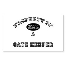 Property of a Gate Keeper Rectangle Decal