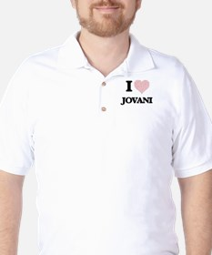 I Love Jovani (Heart Made from Love wor Golf Shirt