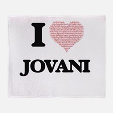 I Love Jovani (Heart Made from Love Throw Blanket