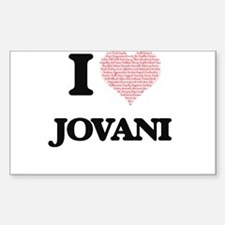 I Love Jovani (Heart Made from Love words) Decal