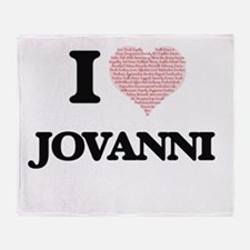 I Love Jovanni (Heart Made from Love Throw Blanket