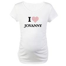 I Love Jovanny (Heart Made from Shirt