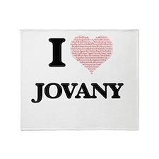 I Love Jovany (Heart Made from Love Throw Blanket