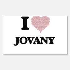 I Love Jovany (Heart Made from Love words) Decal