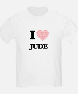 I Love Jude (Heart Made from Love words) T-Shirt