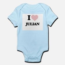 I Love Julian (Heart Made from Love word Body Suit