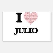 I Love Julio (Heart Made from Love words) Decal
