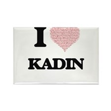I Love Kadin (Heart Made from Love words) Magnets