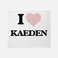 I Love Kaeden (Heart Made from Love Throw Blanket