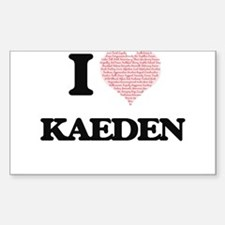 I Love Kaeden (Heart Made from Love words) Decal
