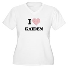 I Love Kaiden (Heart Made from L Plus Size T-Shirt