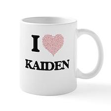 I Love Kaiden (Heart Made from Love words) Mugs