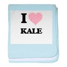I Love Kale (Heart Made from Love wor baby blanket