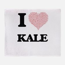 I Love Kale (Heart Made from Love wo Throw Blanket