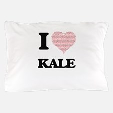 I Love Kale (Heart Made from Love word Pillow Case
