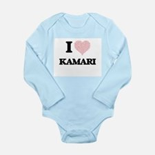 I Love Kamari (Heart Made from Love word Body Suit