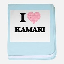 I Love Kamari (Heart Made from Love w baby blanket