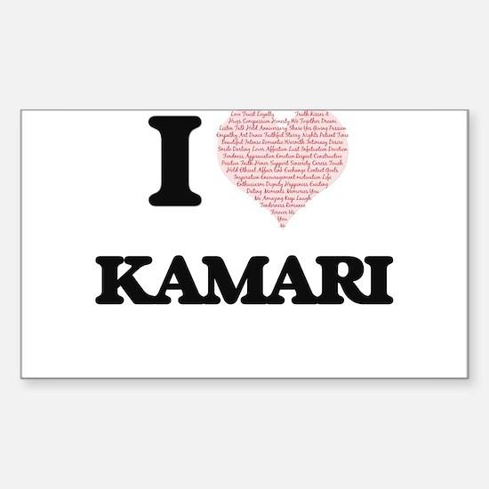 I Love Kamari (Heart Made from Love words) Decal