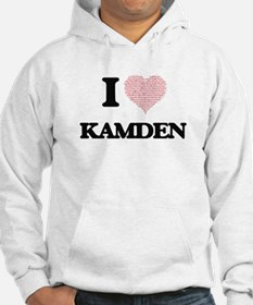 I Love Kamden (Heart Made from L Hoodie