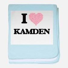 I Love Kamden (Heart Made from Love w baby blanket