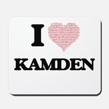 I Love Kamden (Heart Made from Love word Mousepad