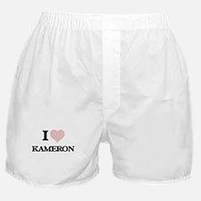 I Love Kameron (Heart Made from Love Boxer Shorts