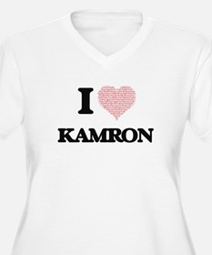 I Love Kamron (Heart Made from L Plus Size T-Shirt