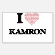 I Love Kamron (Heart Made from Love words) Decal