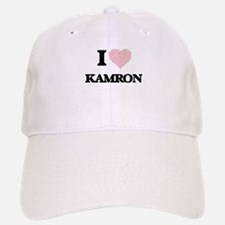I Love Kamron (Heart Made from Love words) Baseball Baseball Cap