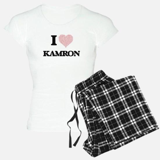 I Love Kamron (Heart Made f pajamas